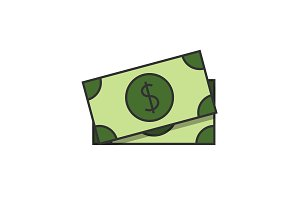 Dollar banknote icon