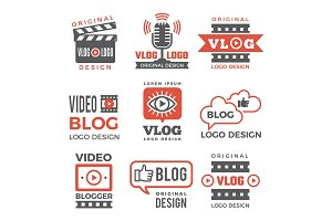 Various logotypes for tv channels