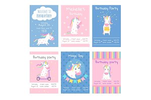 Cards invitations. Design template
