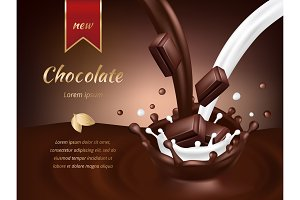 Chocolate advertisement poster