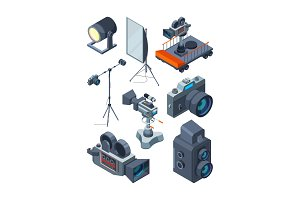 Photo video cameras. Various