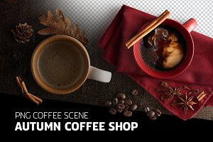 PNG Scene - Autumn Coffee Shop