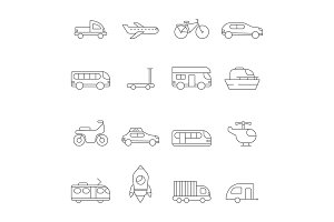 Transportation icon. Linear
