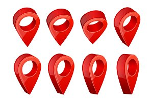 GPS navigation symbols. Realistic