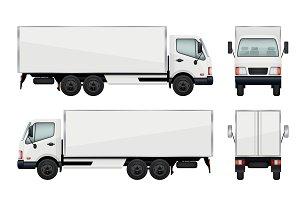 Realistic truck. Vector