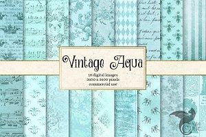 Vintage Aqua Textures