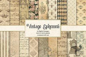Vintage Ephemera Textures