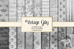Vintage Gray Textures