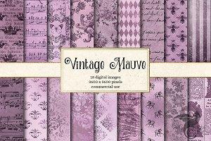 Vintage Mauve Digital Paper Textures