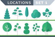Tree Flat set