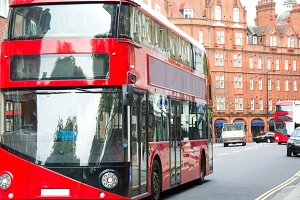 Bus in London street