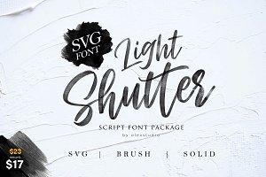 Light Shutter + SVG Font