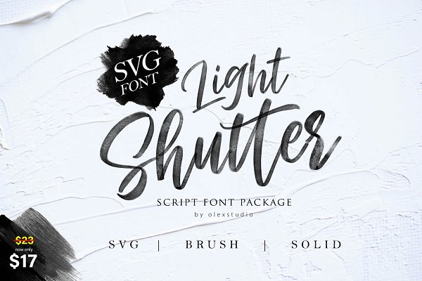 Fonts: Olexstudio - Light Shutter + SVG Font