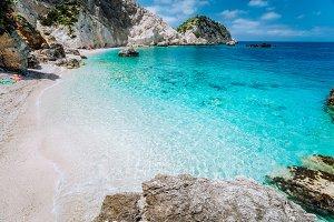 Agia Eleni beach in Kefalonia Island
