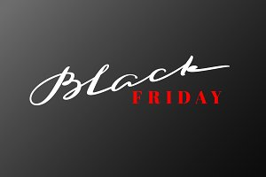 Black Friday lettering. Hand drawn