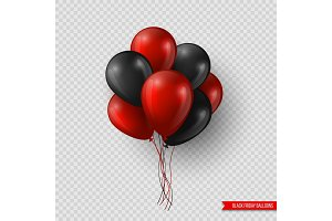Black Friday sale glossy balloons