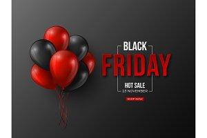 Black Friday sale typographic design