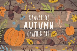 Autumn graphic set