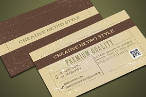 Retro Creative Business Card