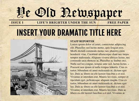 powerpoint newspaper templates templates creative market
