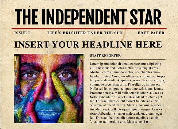 Powerpoint Newspaper Templates Templates Creative Market