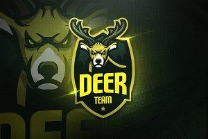 Deer Team - Mascot & Esport Logo