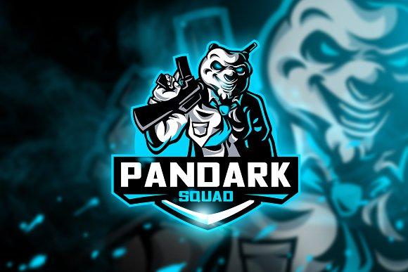 pandark squad mascot esport logo logo templates creative market