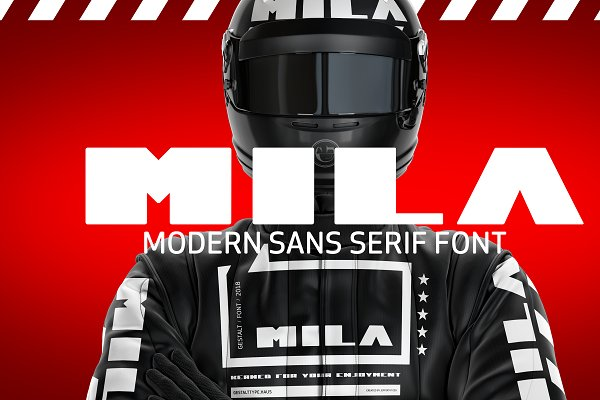 Sans Serif Fonts: GESTALT - MILA // SAN SERIF by Jeffery P. Ess