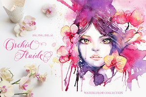50%OFF Orchid Fluide: Watercolor Kit