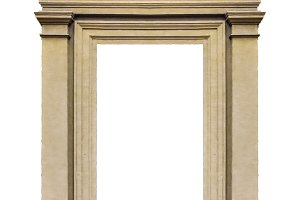 Molding Isolated Door Frame