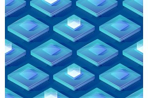 Central processing units. Isometric