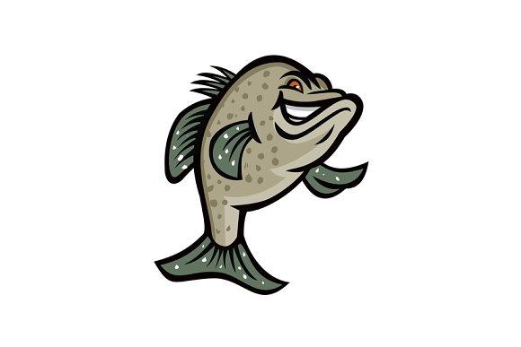 Crappie Fish Standing Mascot