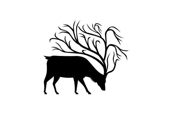 Deer With Tree Antlers Mascot