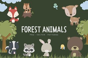 Little Forest Animals & Patterns