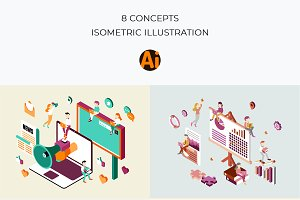 Business Concepts Isometric