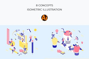 Startup Concepts Isometric