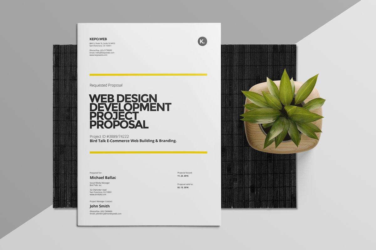 Web Design Proposal ~ Stationery Templates ~ Creative Market