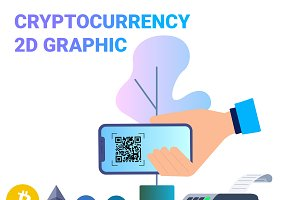Blockchain Cryptocurrency 2D