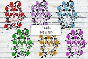 Skulls & Rose Vine