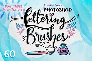Digital-Ink Lettering Brushes