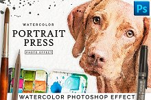 Watercolor Portrait Effect PRO by  in Plug-ins