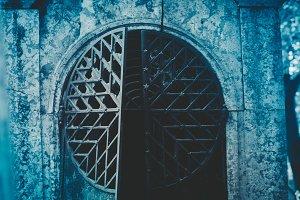 Open iron door of the crypt
