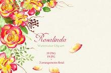 Watercolor clip art Rosalinda