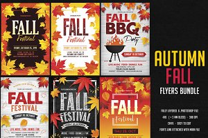 Autumn Fall Flyers Bundle