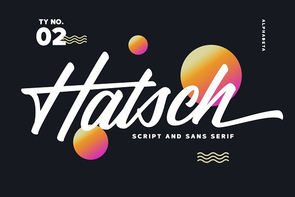 Fonts: Alphabeta - Hatsch Family