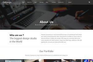 Gonzaga Website PSD Template