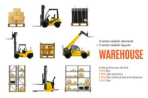 Warehouse Realistic Set