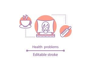 Health problems concept icon