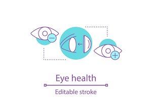 Eye health concept icon