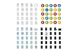 Smartphone icons set